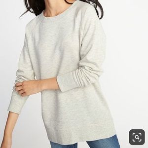 NWOT Old Navy Oatmeal French-Terry Boyfriend Tunic